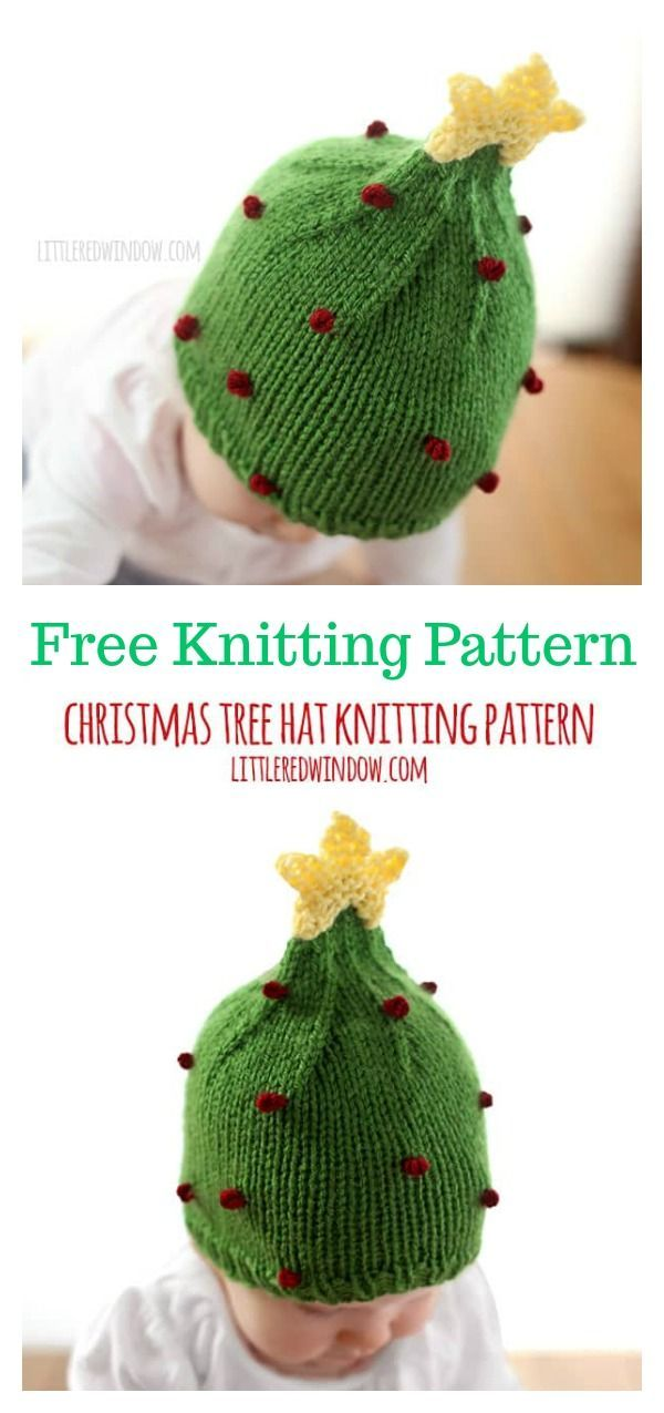 Christmas Tree Baby Hat Free Knitting Pattern  freeknittingpattern   babyhats  christmasgifts a33492ae21d