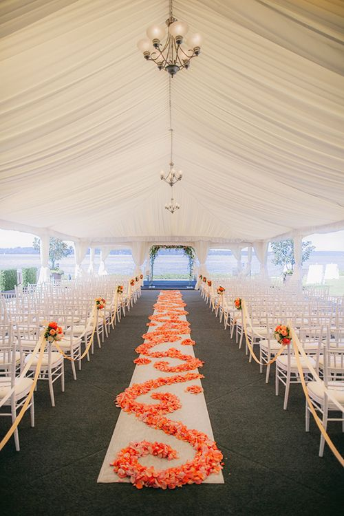 A Peach And Ivory Wedding With Ocean Views In Washington State