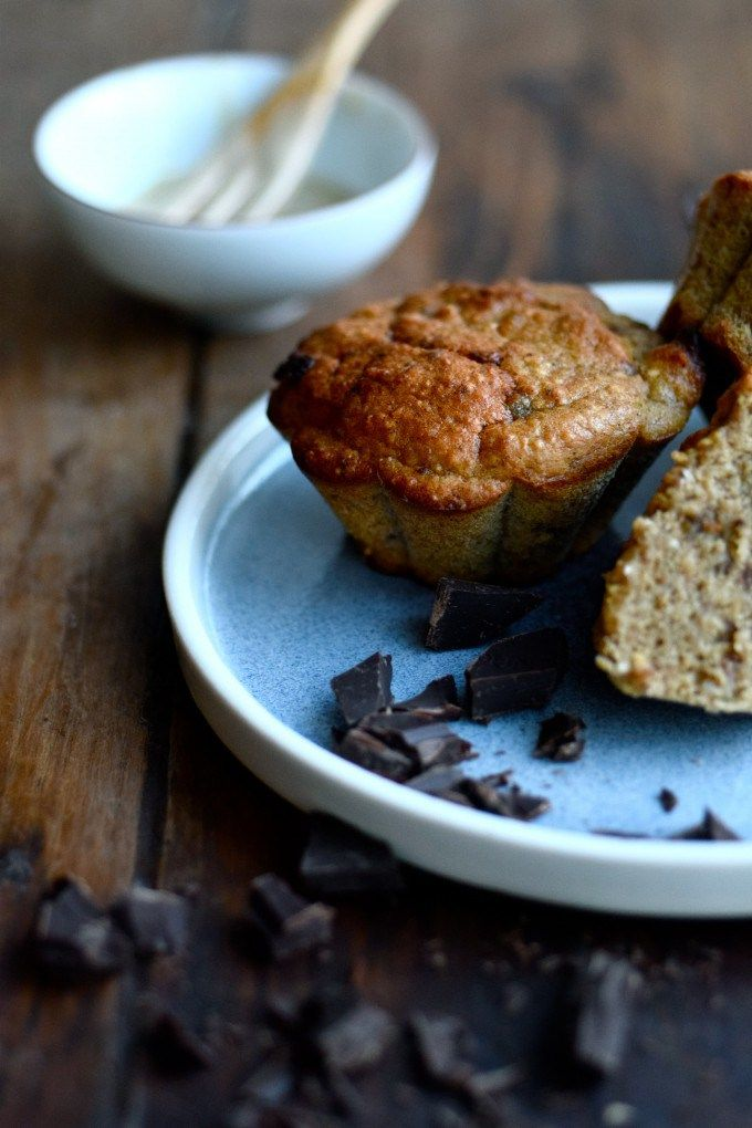 Delicious and healthy banana muffins served on my Blue Hills side plate.