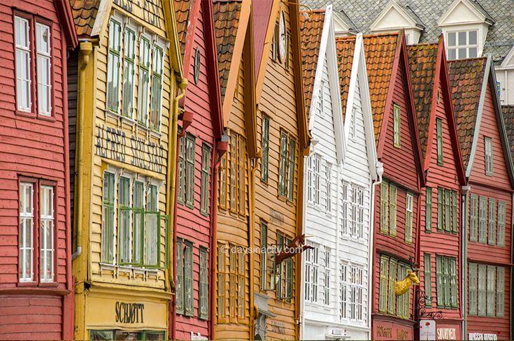 Bryggen houses in Bergen