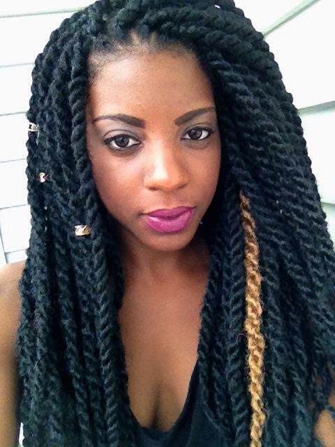 Marley Twist with hair cuffs | Hairstyles Twist ...