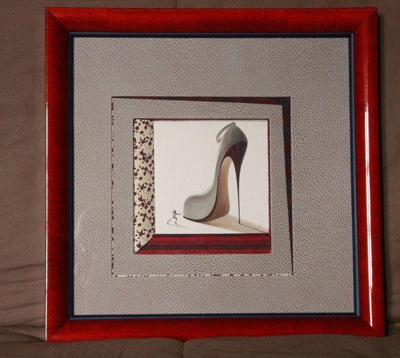 encadrement chaussures de femme