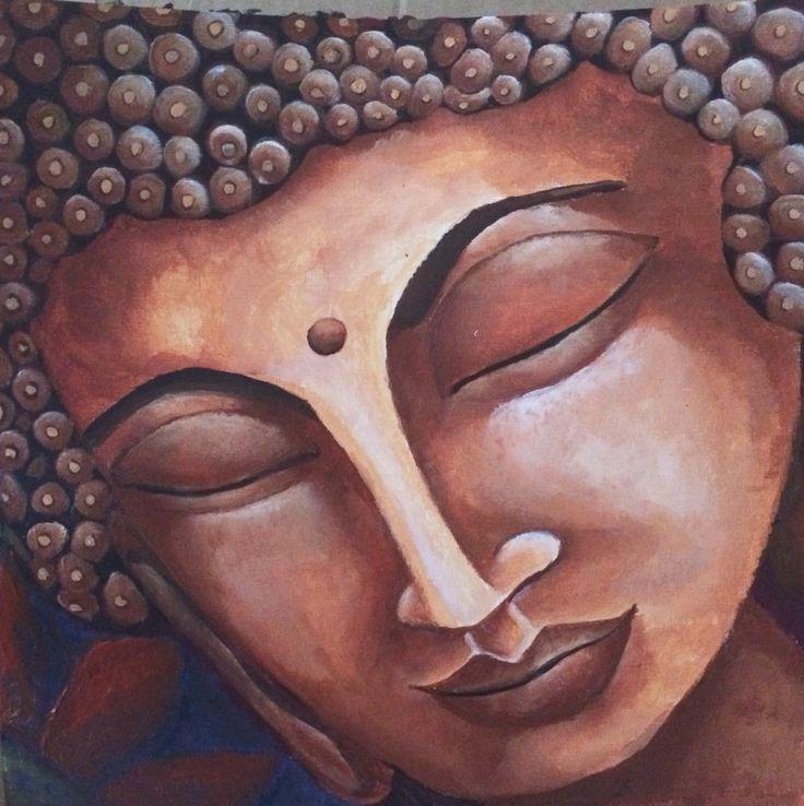 BUDDHA Painting on acrylic canvas sheet.