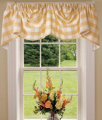 Buffalo Check Lined Austrian Valance | MASTERu0027S Bedroom Beauty | Pinterest  | Valance, Window And Window Coverings