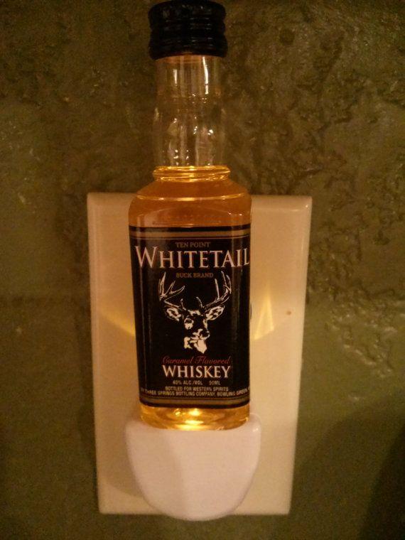 Whitetail Whiskey Mini Liquor Bottle Led Night By