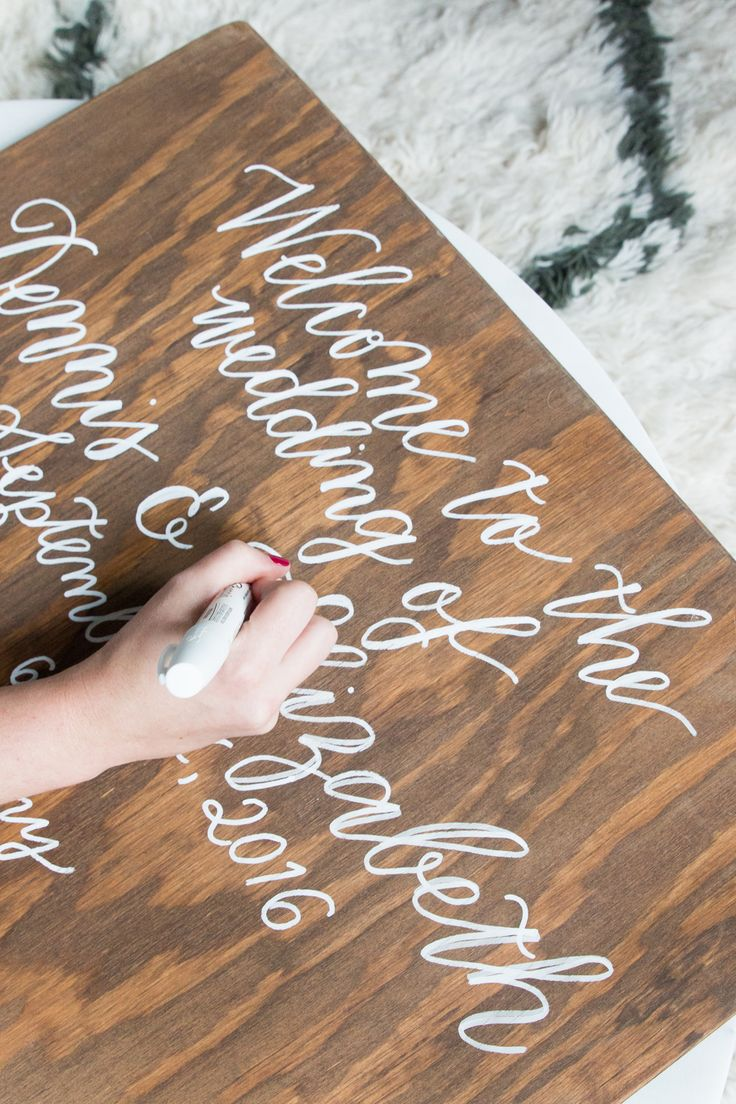 """Wood boards can be a beautiful addition to any wedding or event, but they definitely take a considerable amount of preparation, set up and then of course the lettering itself. This can lead to a potentiallytricky conversation with clients who might think """"it's just writing on wood,"""