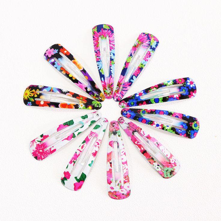 1 Paquete (10/12 UNIDS) Pinzas Para el Cabello Horquillas Barrettes Girls Lindo Colorido Estampado Geométrico Diademas Para Niños pinzas Accesorios para El Cabello