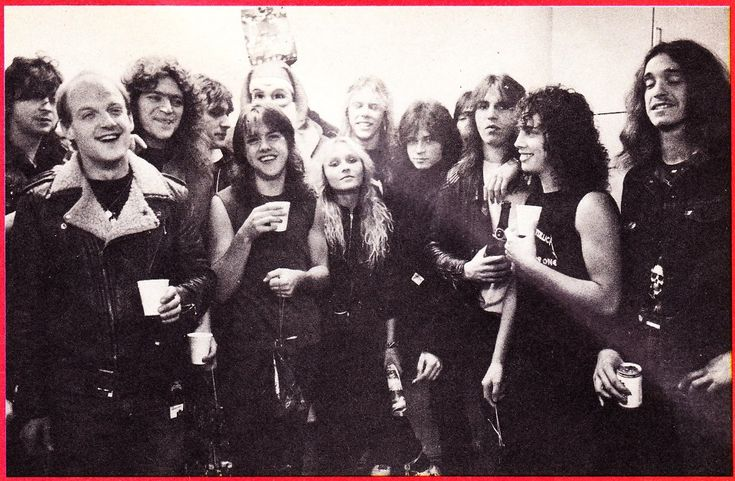 METALLICA: Ride The Lightning Tour (1984) METALLICA/TANK/DORO: Cliff Evans, Graemme Crallan, Mick Tucker, Algy Ward, Larz Ulrich, Jamez Hetfield, Doro, Kirk Hammet, Cliff Burton...