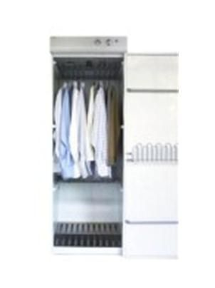 The Drying Cabinet is used for the rapid drying of textile samples. The cabinet is fitted with three rows of folding pull-out hangers, corresponding to a total of 16 metres of  clothesline to support the samples on. The Drying Cabinet can be operated at different temperatures, ranging from Normal, Medium or Air Fluff temperature