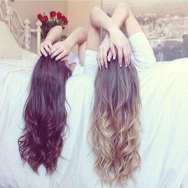 ondulati lunghi capelli voluminosi