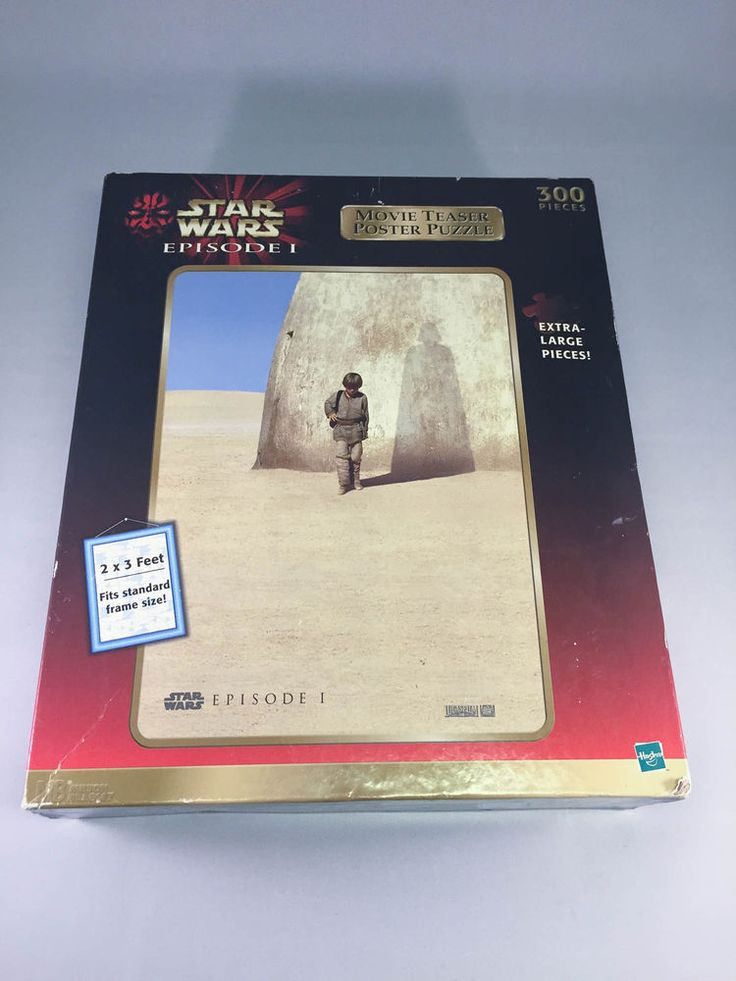 Star Wars Episode I Movie Teaser Poster Puzzle – Unopened #Hasbro