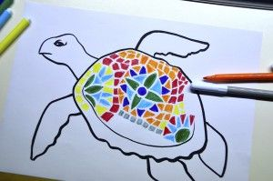 Animals decorated with mosaics inspired by Gaudi