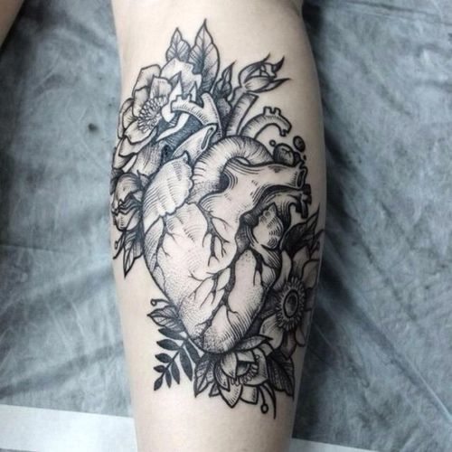 Hipster - Vintage - Floral - Anatomy... Nothing quite like fresh ink.