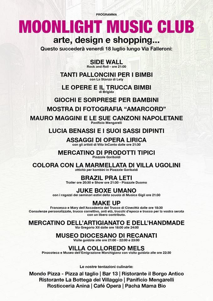 Domani sera non perdetevi il MOONLIGHT MUSIC CLUB!  Stregati dalla luna al #GalleryHotelRecanati con i BRAZIL PRA LETI a partire dalle ore 20:30