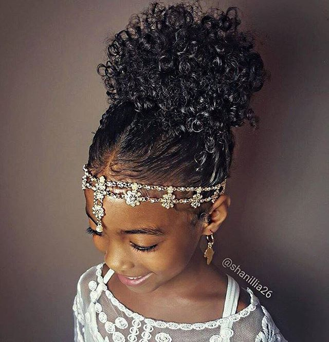 High Puff Natural Hairstyles For Kids Beauty