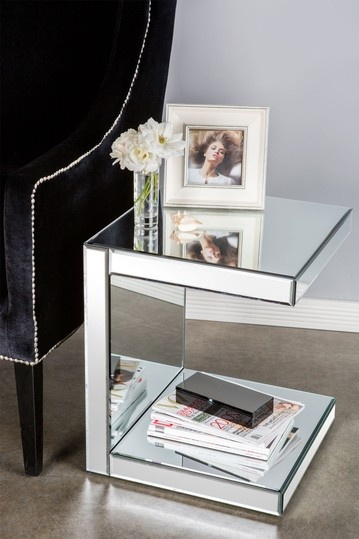I Know It Would Be A Pain To Clean.. But I Love Mirrored Furniture · Mirrored  Side TablesGlass ...