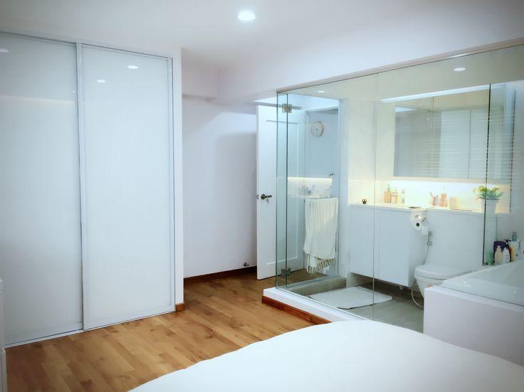 Bedroom, bathroom, minimalist
