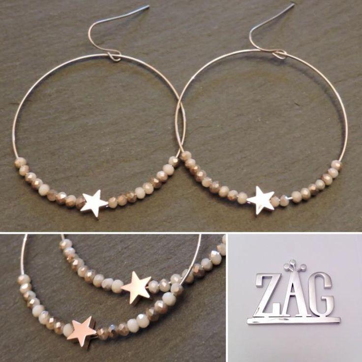 Créoles étoile acier blanc Zag Bijoux - 22,99€