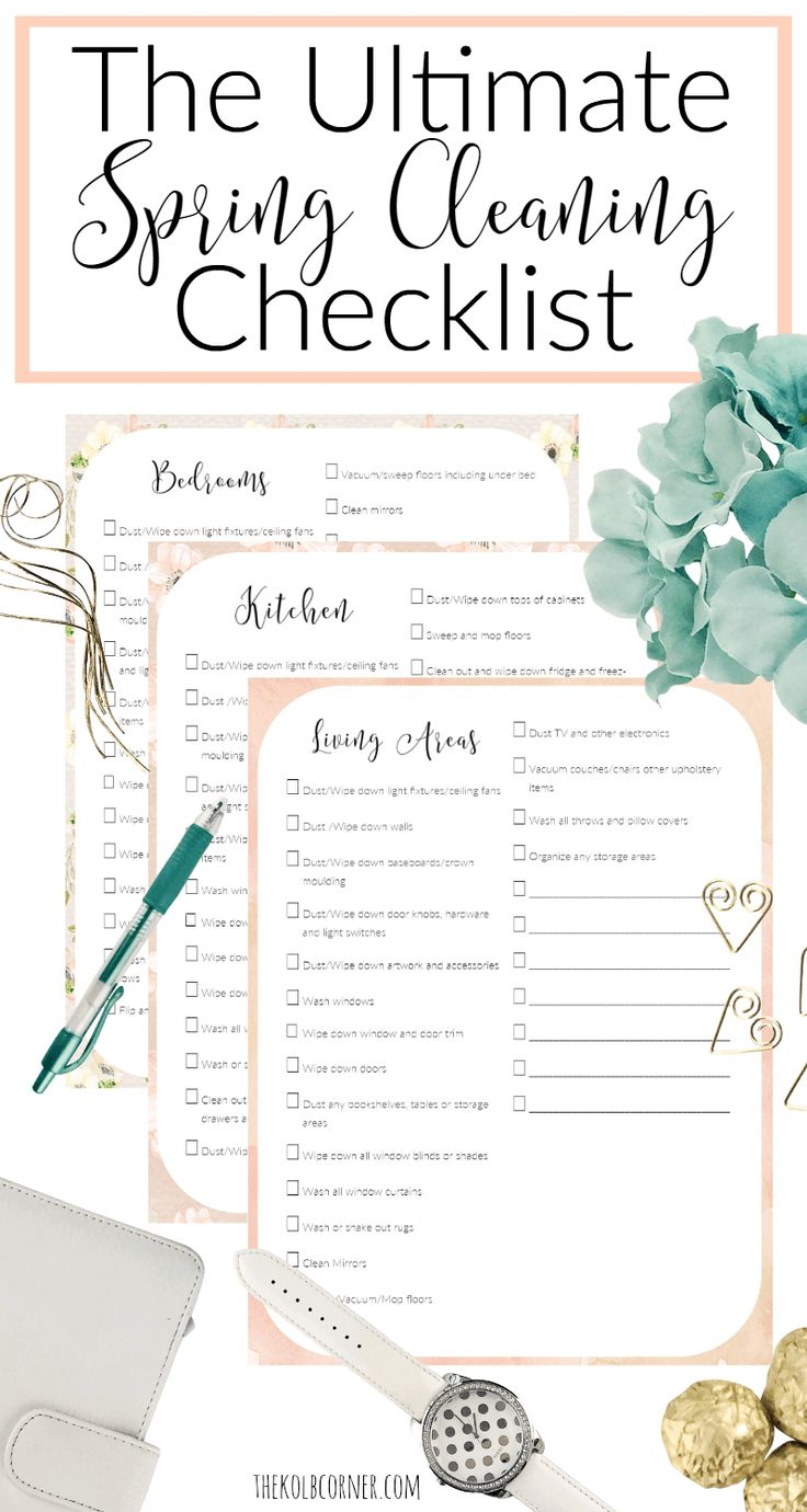 The Ultimate Spring Cleaning Checklist Pin