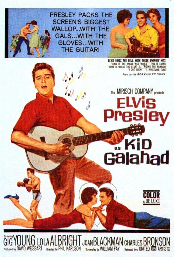 Elvis Movie Poster - Kid Galahad -  1962