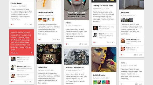 Pinable - Pinterest Style Responsive WordPress Gallery Magazine Theme