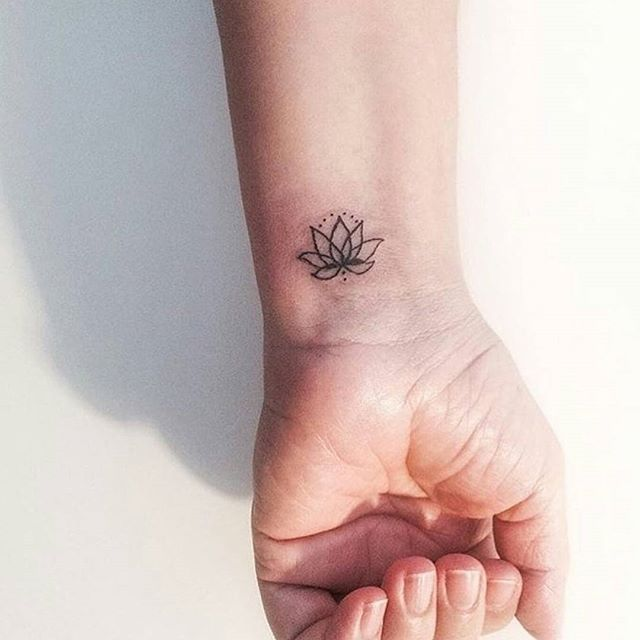 Pin for Later: 40 Stylish Small Tattoos You'll Want to Flaunt Every Day Lotus Flower