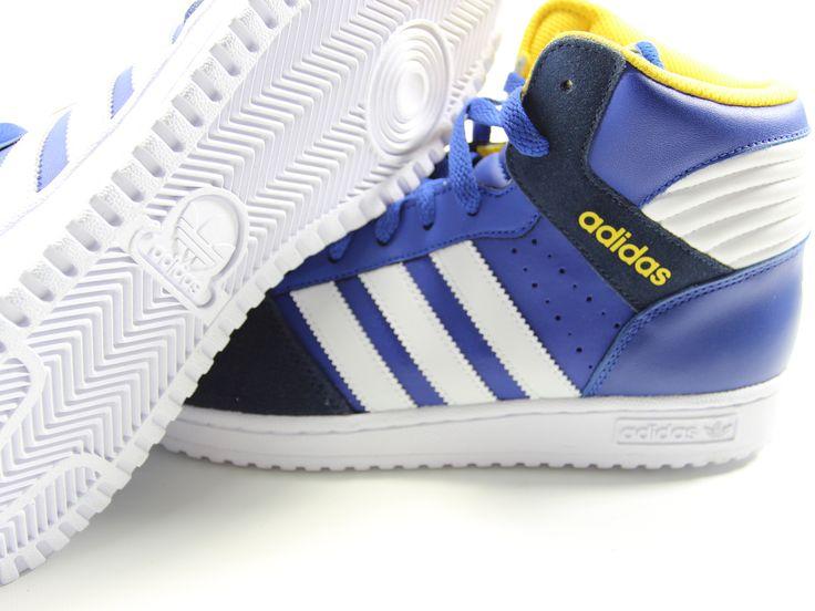Adidas Originals Pro Play 2 Retro Basketball Shoes Size 11 (Blue/Yellow)