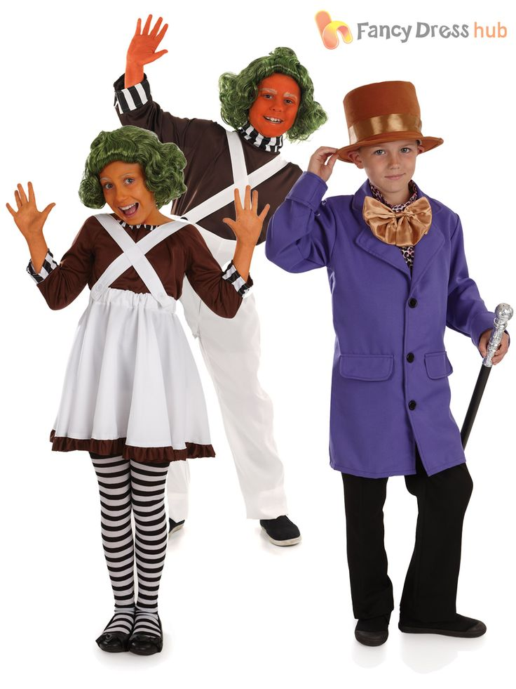 Childs #oompa l#oompa fancy dress #costume willy wonka outfit kid chocolate facto, View more on the LINK: http://www.zeppy.io/product/gb/2/181996280199/