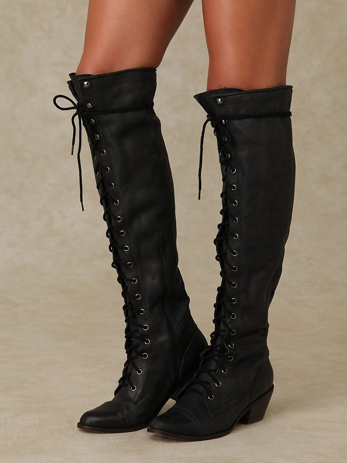Jeffrey Campbell Joe Lace Up Boot at Free People Clothing Boutique $298