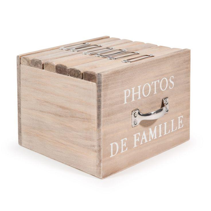Bo�te 6 albums photo en bois 13 x 17 cm FELICITE