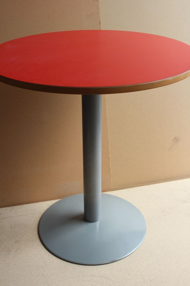 Orange Large Round Stem Meeting Table Office Computer Home Study Furniture Table