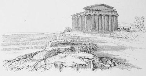 Augustus Hare. Temple of Concord, Girgenti.