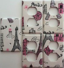 Eiffel Tower Bedroom Decor | ... Paris Eiffel Tower Light Switch Cover Set  1u00264