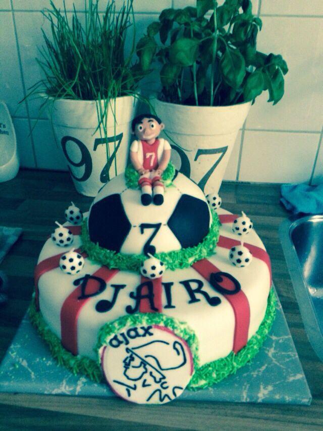 Ajax Birthday cake (footballcake) for my nephew his 7th birthday   Felies01  