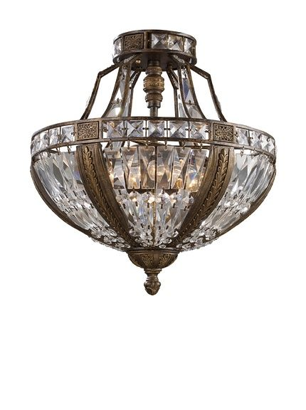 Artistic Lighting Millwood 6 Light Semi Flush In Antique Bronze, Http:/