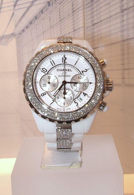 {Chanel Jewels} White Chanel watch #watch #Chanel ⌚