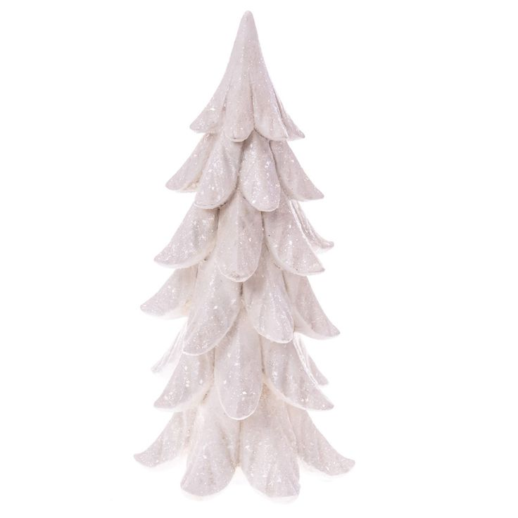 White Glitter Tree Decor   Woodland Christmas   Cracker Barrel Old Country Store - Cracker Barrel Old Country Store