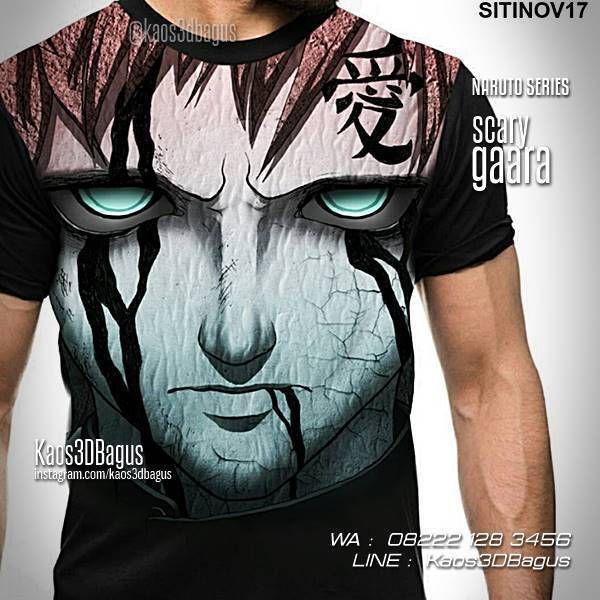 Kaos NARUTO, GAARA, Kaos Karakter Naruto, Kaos Anime, Kaos Manga, Scary Gaara, Kaos3D, WA : 08222 128 3456, LINE : Kaos3DBagus, https://kaos3dbagus.wordpress.com/2016/02/10/kaos-naruto-kaos-3d-4d-naruto-terlengkap/