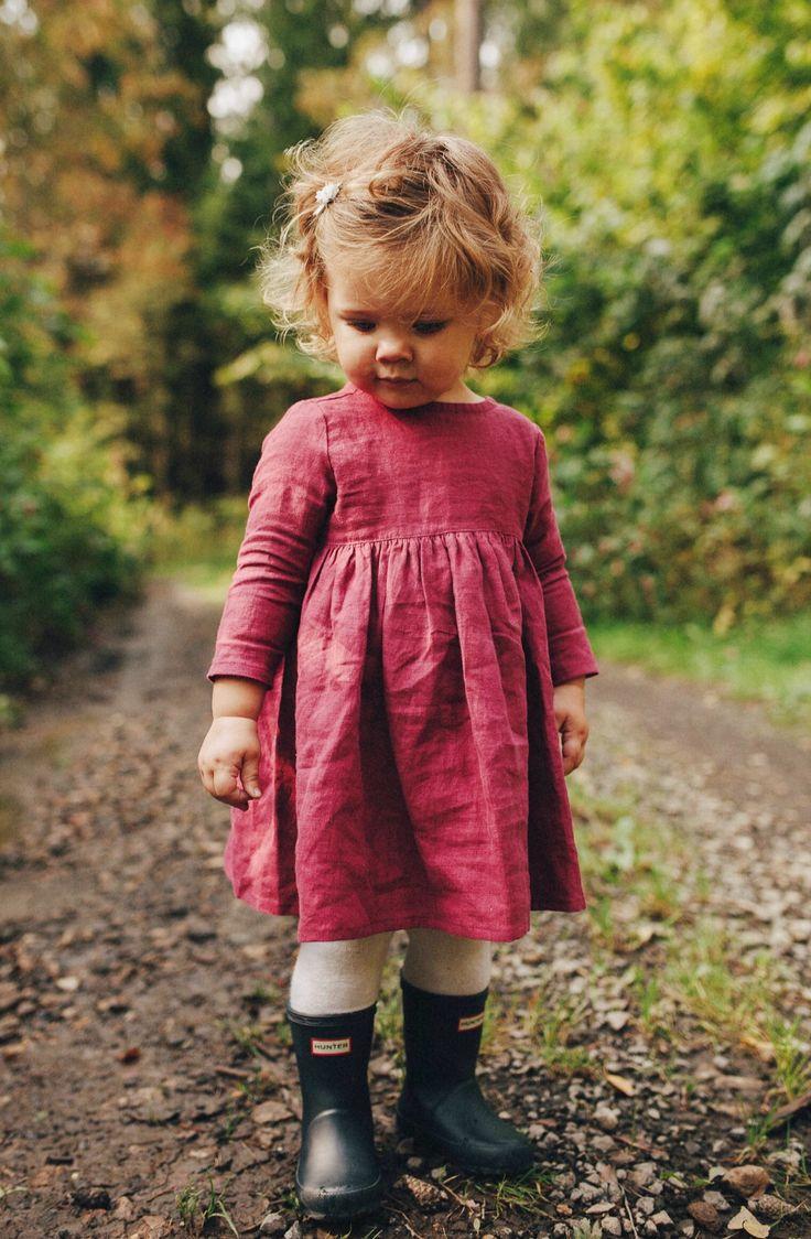 Lovely Handmade Linen Baby Toddler Dress | Etsy