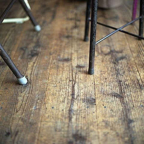 a worn wodden floor is about the nicest thing there is