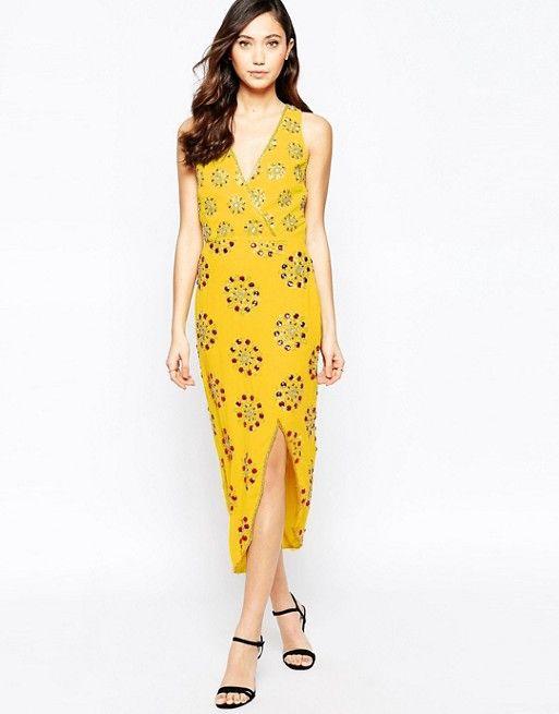 Virgos Lounge | Virgo's Lounge Daria Embellished Asymmetric Dress