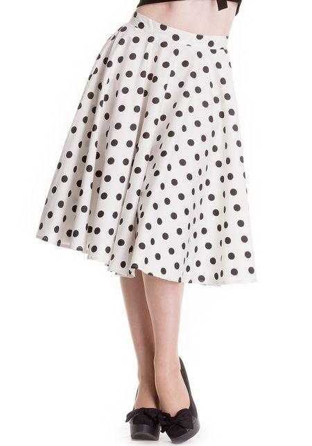 Adelaide White Polka Dot Circle Skirt   www.misswindyshop.com