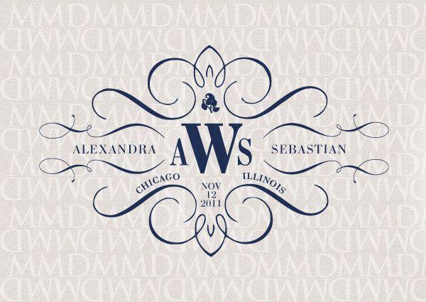Elegance Calligraphy Wedding Logo & Monogram. $25.00, via Etsy.