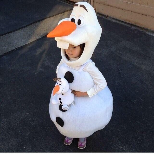Olaf Halloween costume! Absolutely adorable.