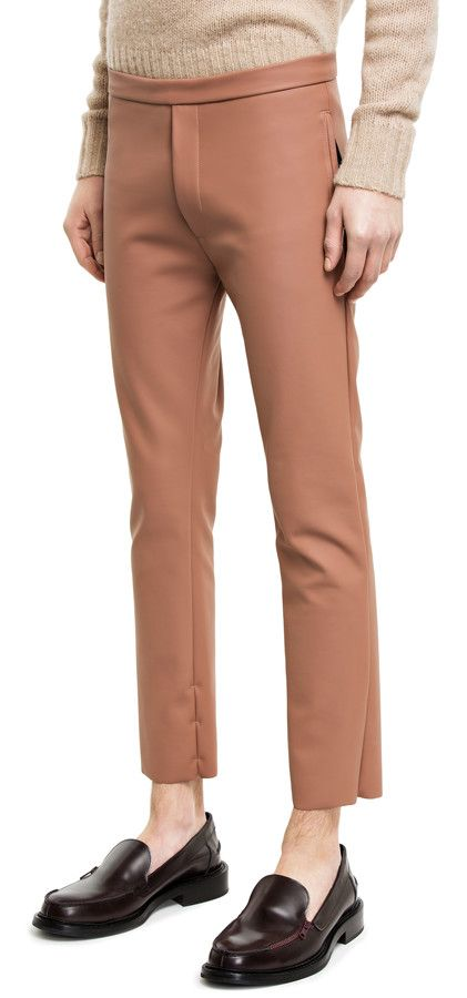 Benoit copper trousers in breathable scuba wetsuit fabric #AcneStudios #menswear