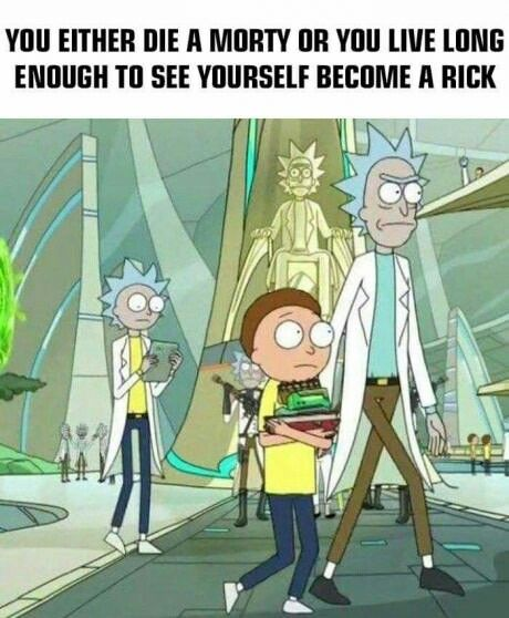 Besides being a clever twist on the Dark Knight quote... It's actually an interesting theory about Rick's true origin of he were actually Morty that time traveled and would also tie into the Rick isn't a genius theory n why he needs the mega seeds. I don't buy it really, but it is interesting to think about.