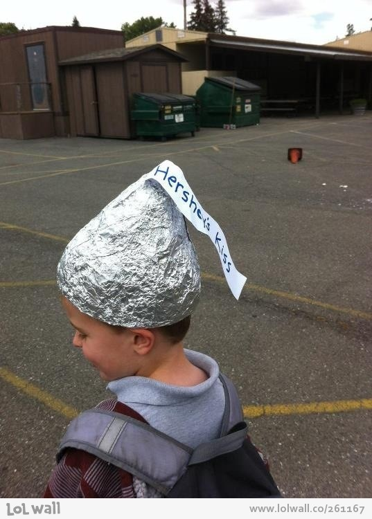 halloween | Last minute crazy hat day at school... Hershey's Kiss hat!
