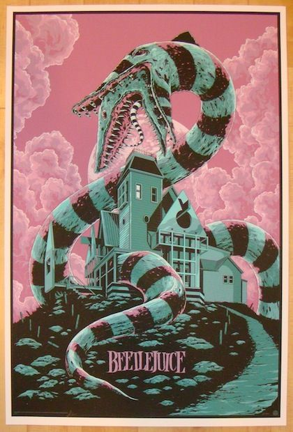 2013 Beetlejuice - Silkscreen Movie Poster by Ken Taylor - $125.00 : Jojo's Posters