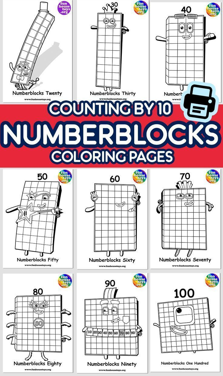Numberblocks Printables In 2020 Numbers For Kids Fun Printables For Kids Coloring Pages