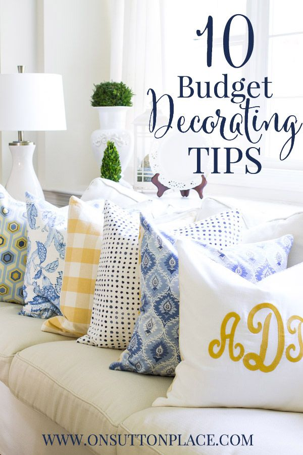 10 budget decorating tips - Home Decor Tips